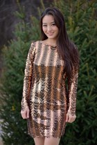 tawny sequined Charlotte Russe dress