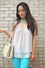 Aquamarine-skinny-articles-of-society-jeans-lime-green-darling-bag