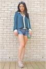 Aquamarine-crossbody-kate-spade-bag-blue-jean-cut-off-ag-denim-shorts