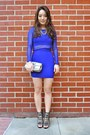 Silver-deb-shops-shoes-blue-charlotte-russe-dress-silver-clutch-coach-bag