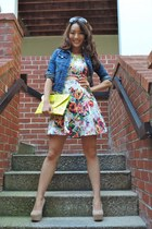 white floral cut-out material girl dress - navy Aeropostale jacket