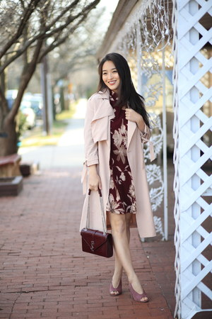 maroon Hailey Raine Boutique dress - pink All Saints jacket