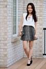Black-jwholesale-bag-black-fluted-bandage-bcbg-max-azria-skirt