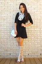 black crochet Spicy Avenue dress - white crossbody deb bag