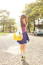 blue Bubbles skirt - yellow The SM Store shoes - light blue Dickies socks