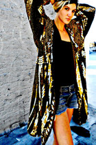 sequined vintage jacket - diy denim Blue Cult shorts