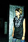 Circle-urban-outfitters-scarf-black-silk-rag-and-bone-dress