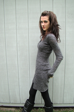 Urban Outfitters dress - tights - boots