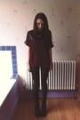 Black-h-m-boots-black-leather-look-miss-selfridge-jeans
