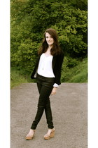 black black TK Maxx blazer - black leather look Miss Selfridge jeans