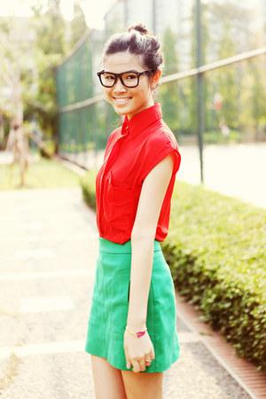 linear cut Zara skirt - chiffon WeAreRubbish shirt