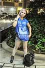 Black-clover-vintage-boutique-boots-blue-shirt