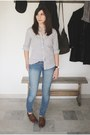 Zara-shoes-cheap-monday-jeans-jcrew-shirt