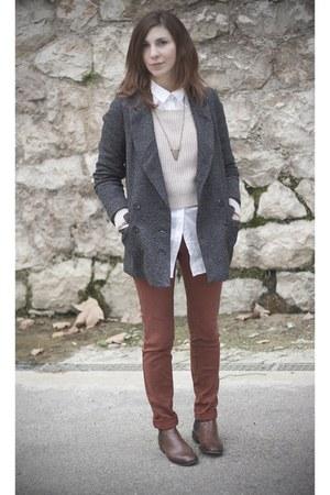 H&M sweater - Zara boots - Pimkie jeans - Pimkie jacket - H&M shirt
