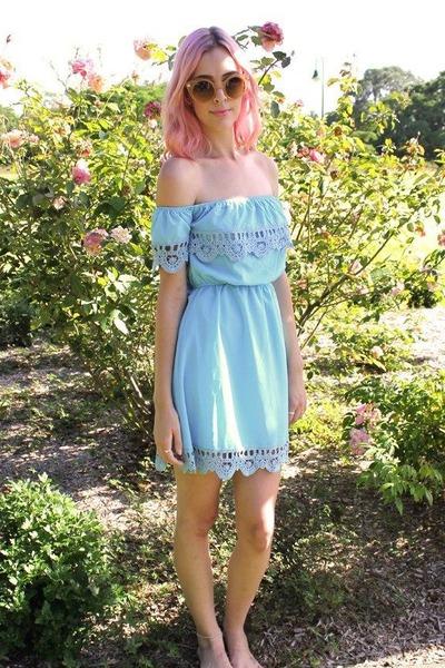 off shoulder dragonberry dress