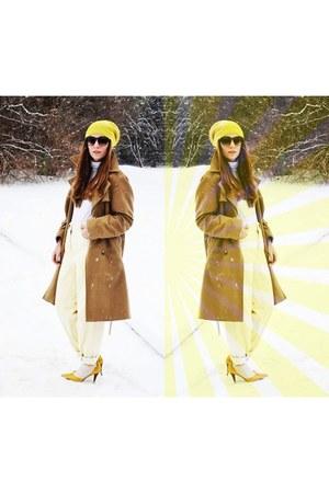 yellow Payless heels - Target hat - light yellow big ol bf jeanz asos pants