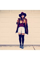 maroon kickbutt kling hat - navy Accessorize boots - brown Accessorize coat