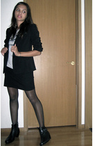 H&M blazer - Urban Outfitters t-shirt - American Apparel skirt - Salvation Army