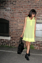 Urban Outfitters dress - thrifted shoes - H&M purse