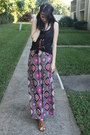 Olive-green-tribal-print-forever-21-dress-tawny-attention-sandals