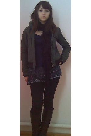 HERRY jacket - unknown brand leggings - stradiuarius shirt - unknown scarf