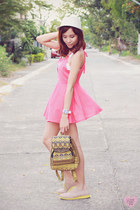 pink mini Miss Sixty dress - salmon tank tiangge top