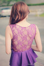 Purple-peplum-dress