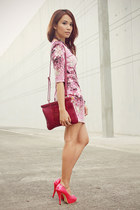 magenta floral splatter SM Store dress