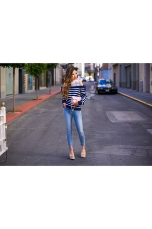 on sale Sweater sweater - Jeans jeans - Bag bag - wedges wedges