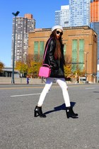 Jacket jacket - boots boots - Jeans jeans - beanie hat - Bag bag