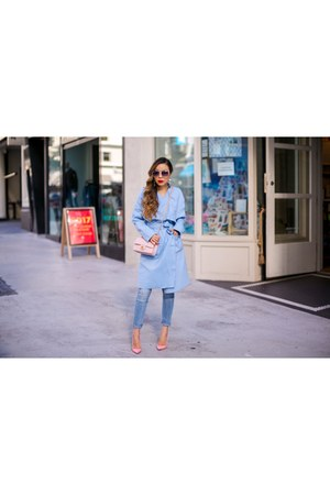 Bag bag - trench coat - Jeans jeans - sunglasses sunglasses - heels heels