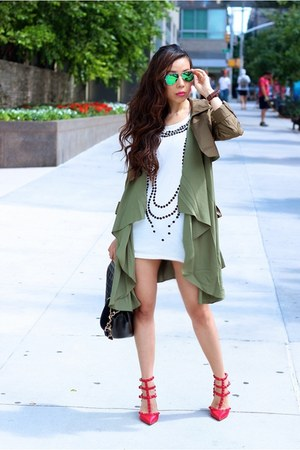 Watch watch - trench coat - sunglasses sunglasses - heels heels