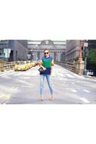 Sweater sweater - Jeans jeans - Bag bag - sunglasses sunglasses - heels heels