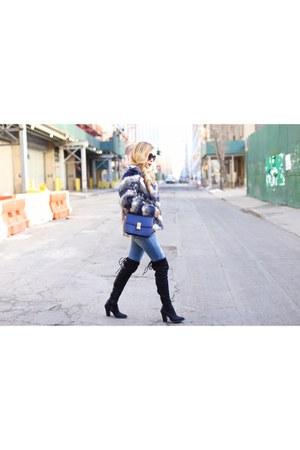denim jacket jacket - on sale Faux fur jacket jacket - OTK Boots boots