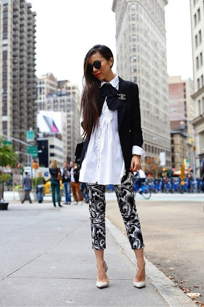 Blazer blazer - shirt dress dress - sunglasses sunglasses - heels heels