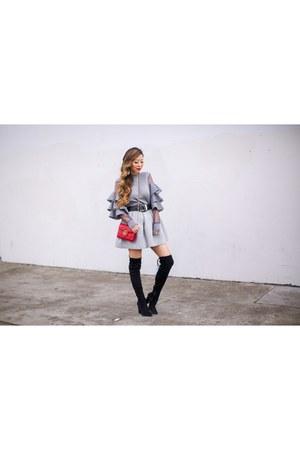 Bag bag - OTK Boots boots - Skirt skirt - Earrings earrings - on sale Top top