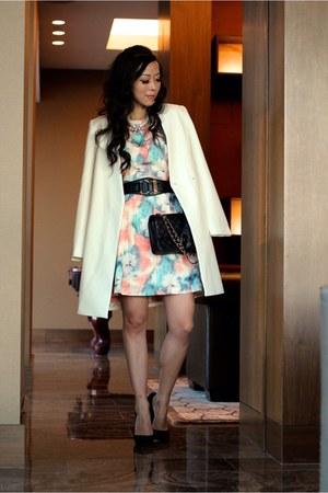 modcloth dress - coat coat - Chanel bag - gloves gloves
