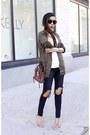 Jeans-jeans-parka-jacket-bag-bag-sunglasses-sunglasses