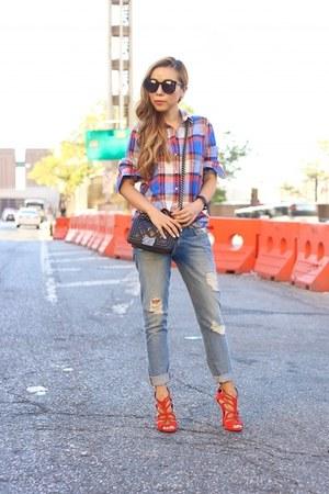 shirt shirt - Jeans jeans - Bag bag - sunglasses sunglasses