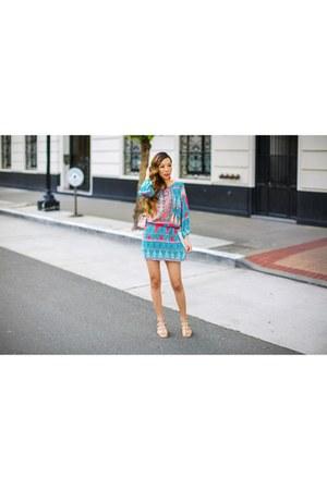 Bag bag - Dress dress - Earrings earrings - sandals sandals
