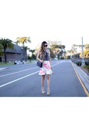 Skirt skirt - Bag bag - sunglasses sunglasses - sandals sandals