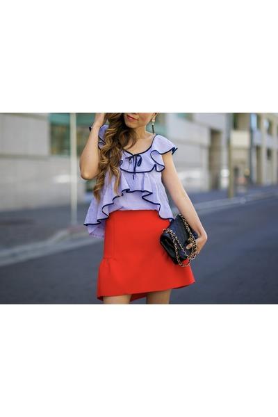 less than 80 Top top - Bag bag - Earrings earrings - heels heels - Skirt skirt