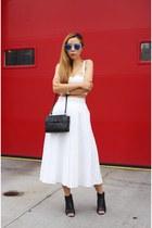 Bag bag - Shoes boots - sunglasses sunglasses - Skirt skirt - Top top