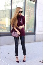 Sweater sweater - Bag bag - sunglasses sunglasses - heels heels - pants pants