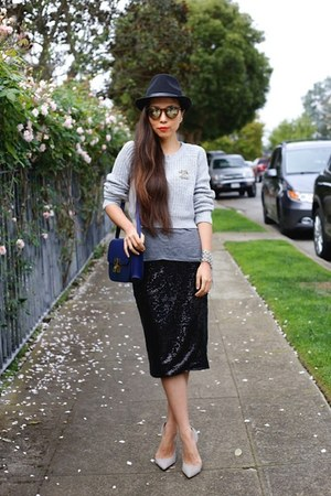 Skirt skirt - Sweater sweater - sunnies sunglasses - heels heels
