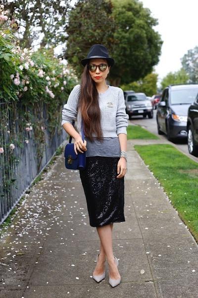 Skirt skirt - Sweater sweater - sunnies sunglasses - heels heels
