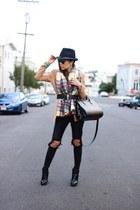 scarf scarf - boots boots - Jeans jeans - hat hat - Blazer blazer