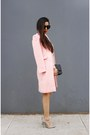 Coat-coat-sweater-dress-sweater-bag-bag-sunnies-sunglasses-shoes-heels