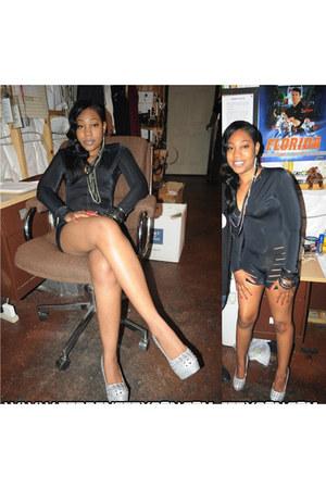 black spandex bodysuit