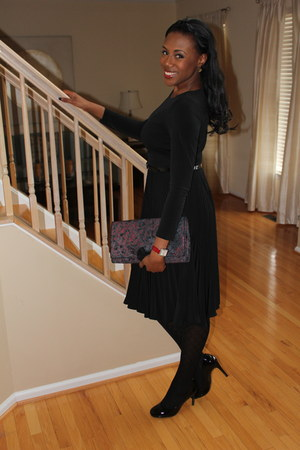 michele watch - Suzi Chin dress - Spanx tights - Betsey Johnson purse